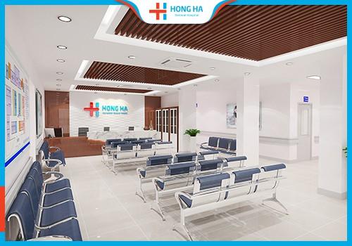 phòng chờ khám bệnh tại bệnh viện Đa khoa Hồng Hà
