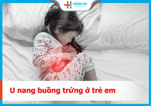u nang buồng trứng ở trẻ em