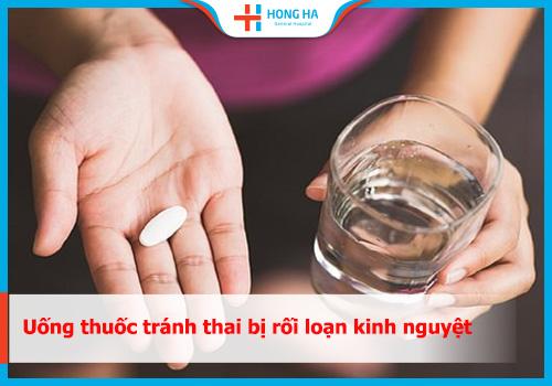 uống thuốc tránh thai bị rối loạn kinh nguyệt