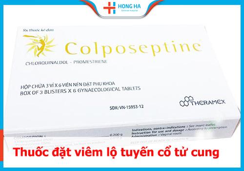 thuốc đặt viêm lộ tuyến colposeptine