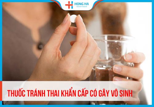 Thuốc tránh thai khẩn cấp có gây vô sinh