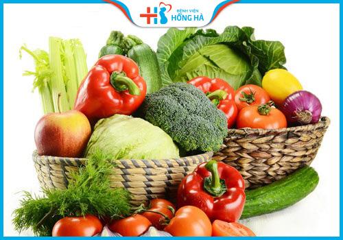 viêm lộ tuyến cổ tử cung bổ sung nhiều rau quả