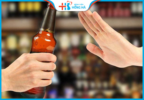 viêm lộ tuyến không uống rượu bia