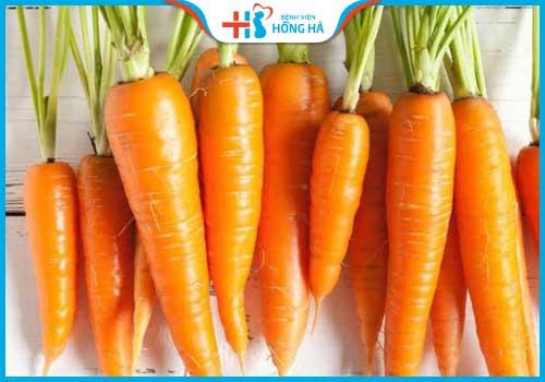 thực phẩm gây vô sinh ở nữ giới cà rốt