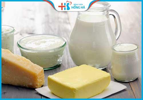 thực phẩm gây vô sinh ở nữ giới bơ sữa