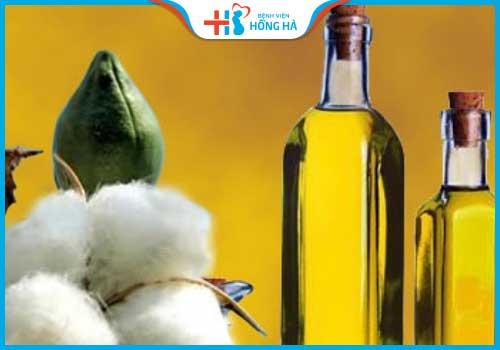 thực phẩm gây vô sinh ở nữ dầu hạt bông