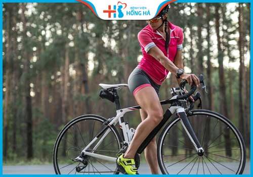 đạp xe đạp nhiều gây vô sinh giảm mỡ