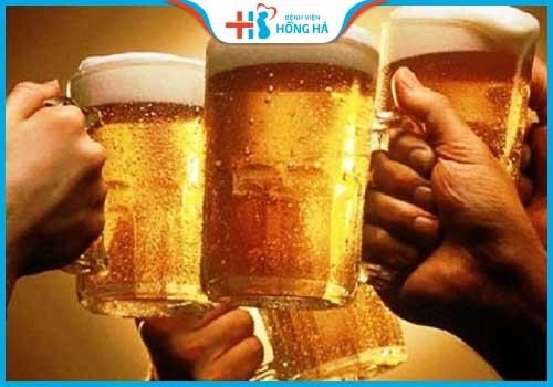 thực phẩm gây vô sinh ở nam giới bia rượu