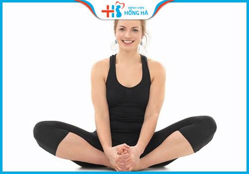 bài tập yoga chữa vô sinh con bướm