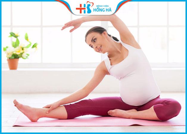 Tập luyện thể dục đều đặn giúp bà bầu thoải mái hơn