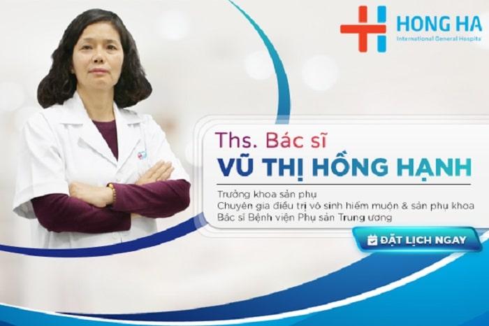 Thạc sĩ Bác sĩ Vũ Thị Hồng Hạnh