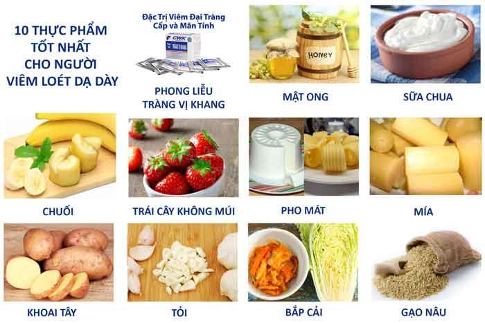 Thực phẩm nên ăn khi viêm loét dạ dày